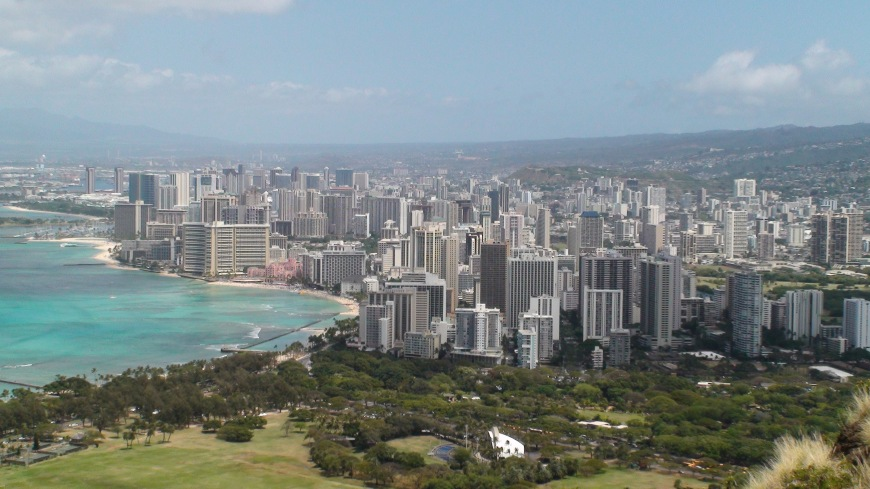View of Wikiki from Diamond Head