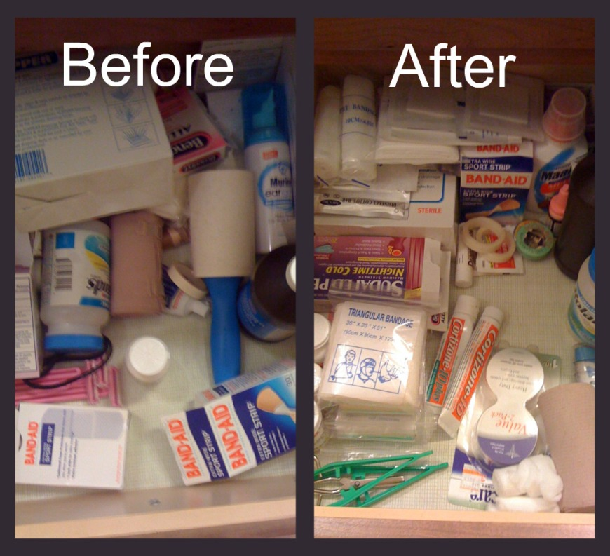 First aid and Medicine Drawer