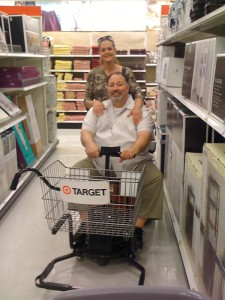 Pete & Mary in Target...I couldn't resist including this pic!