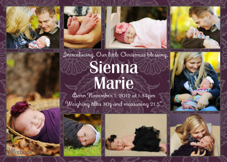 Sienna Marie Birth Announcement