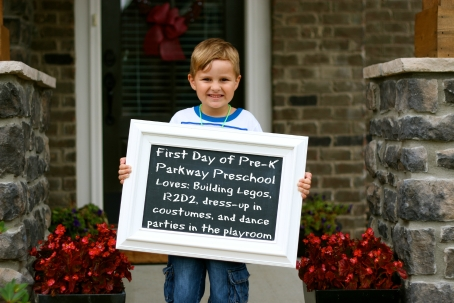 Mason's First Day of PreK