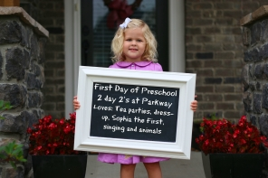 Sienna's First Day of 2yo preschool